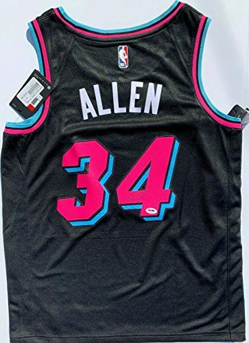 Ray Allen Autographed Signed Miami Heat Vice Nike Basketball Jersey Celtics Auto PSA/DNA