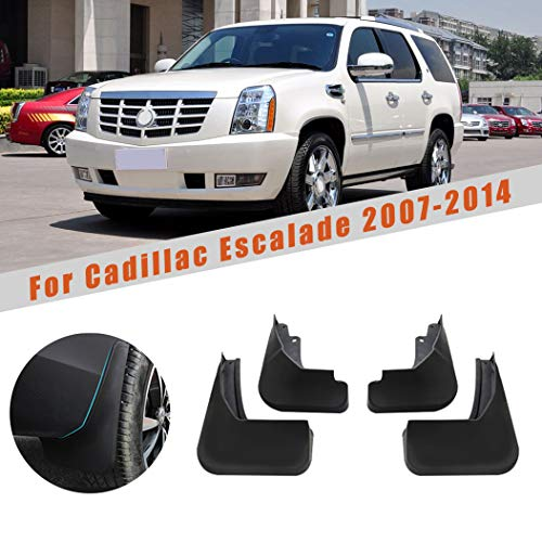 Car Mudguards for Cadillac Escalade 2007-2014 GMT900 Car Mudguards Fender Splash Guards Mud Flaps Accessories Front and Rear Set ofs 4Pcs
