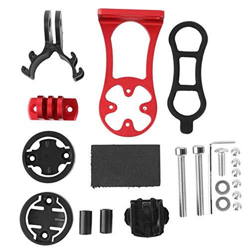 FOLOSAFENAR Compatible con Metal para Montaje en computadora de Bicicleta con Orificio de Montaje Ajustable Cateye con Doble Perno. para la Mayor Parte del vástago de Bicicleta, para(Red)
