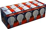 Lot de 10 ampoules à incandescence mat osram centra a t fR 60 special résistant aux w e27 chocs