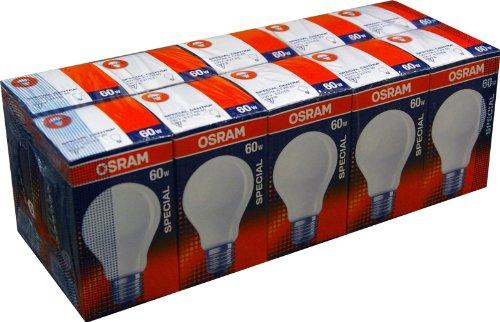 10 x Osram Glühbirne Glühlampe 60W MATT Special Centra A T FR 60 Watt E27 stoßfest
