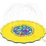 XYDDC Sprinkle and Splash Wasserspielmatte rutschfeste Outdoor-Garteninflation Wasserfüllendes Wasserspielspielzeug Sprinkler für Kinder und Outdoor-Garten Familienaktivitäten