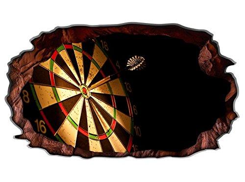 3D Wandtattoo Sport Dart Pfeil Dartscheibe Bild selbstklebend Wandbild sticker Wohnzimmer Wand Aufkleber 11H1468, Wandbild Größe F:ca. 97cmx57cm