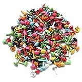 SODIAL Lote de 200 Mini Sujetadores parisienses Arte de Papel Multicolor Estampacion portapapeles DIY Herramienta 4.5 mm