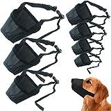 Bozal de perro REYOK, 7 piezas, versión actualizada, bozal de poliéster para perros pequeños, medianos y grandes, transpirable, suave con correa ajustable para evitar que ladren y masticen 7 tamaños