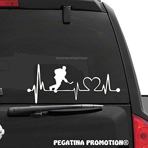 Eishockey Eishockeyspieler Typ2 Herzschlag Aufkleber 30 cm Herzlinie Hobby Sticker Auto Lack Scheibe Autoaufkleber von Pegatina Promotion ®