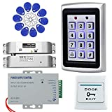 HFeng Sistema de control de acceso RFID de 125 KHz Teclado 10pcs EM4100 Llaveros 1000 usuario WG26