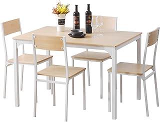 Juego de mesa de comedor de madera con cuatro sillas muebles modernos del comedor para la oficina salón comedor cocina