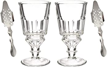 Absinthe Starter Set For 2 - Includes 2 La Rochere Absinthe Glasses & 2 Absinthe Spoons