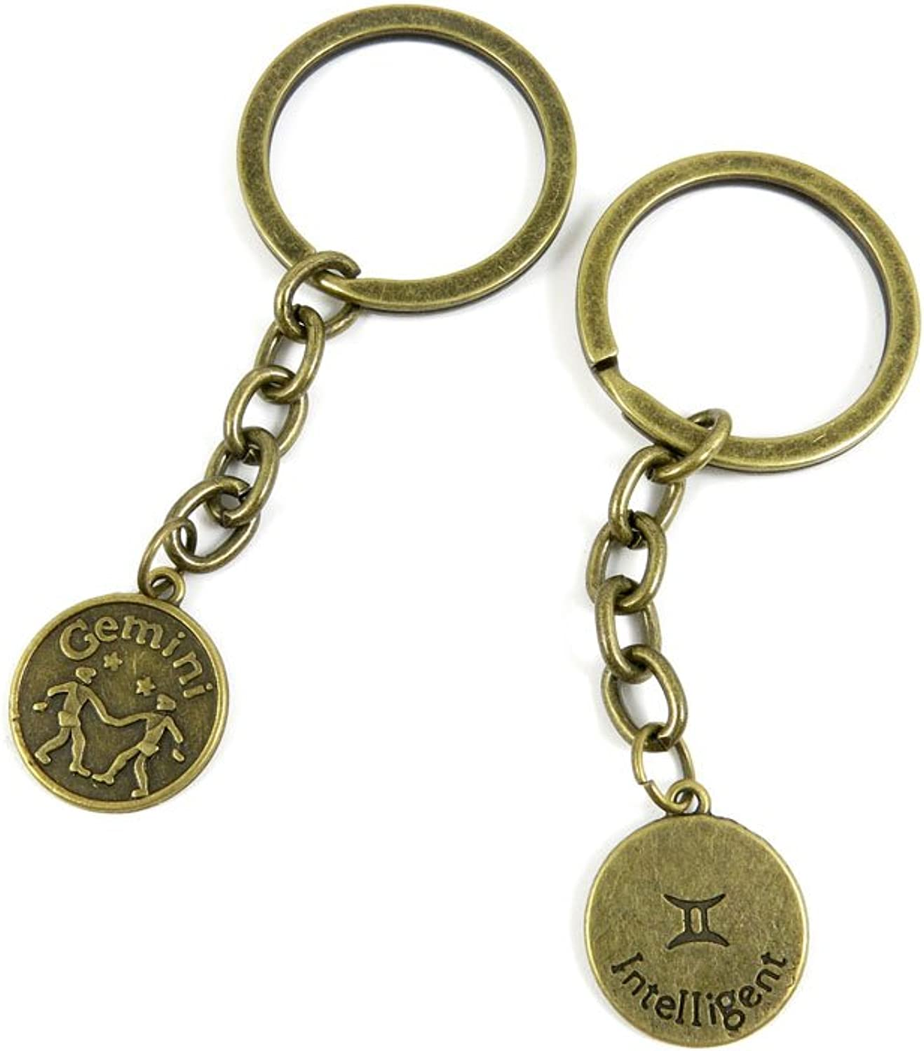 100 PCS Keyrings Keychains Key Ring Chains Tags Jewelry Findings Clasps Buckles Supplies V0NJ4 Gemini
