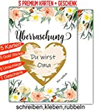 Happy Wedding Art Rubbellkarte Überraschung x 5 Karten Rubbellos Karte A6 DIN...