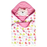 Vine Sommer Baby Decke Kuscheldecke Baumwolle Stickerei Stickerei Haube Neugeborene Wearable Decke Baby Schlafsack Baby Badetuch Kapuze,75 * 75CM-Katze