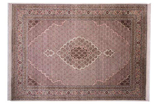 Teppichprinz Tabriz 347x249cm Alfombra Oriental Anudada a Mano India Carpet Manta