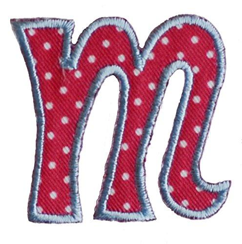 TrickyBoo Letra de Decoración pequeña (5 cm), termoadhesiva, para Colocar con la Plancha o Coser, de algodón
