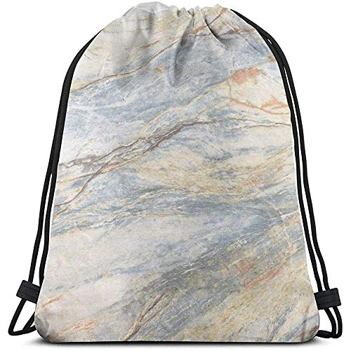 Marmer Tegel Textuur Trekkoord Tassen Gym Bag Sport Sackpack Travel School Rugzak Jongens En Meisjes