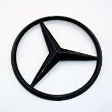 US85 Direct Mercedes-Benz Luggage Lid Adhesive Nameplate Star Logo Trunk Rear Emblem W205 Modified C-Class C 300 C43 C 63 S C 450 Sedan (Gloss Black)