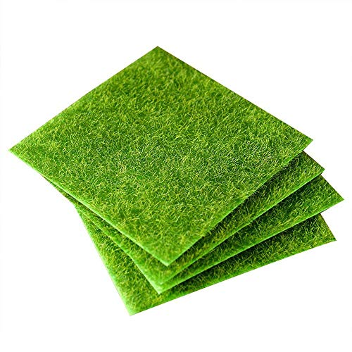 Künstlicher Grasrasen, künstlicher Moos, dekorativer Rasen, Mikro-Landschaft, Dekoration, DIY, Mini-Feengarten, Simulationspflanzen (15 cm, 4 Stück)