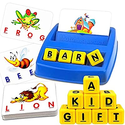 Matching Letter Game, Kindergarten Preschool Educational Learning Games, Sequence Board Game for Sight Word Letter Spelling, Age 1 2 3 4 5 6 7 8 Year Old Girls & Boy Toys - Best Festival Birthday Gift