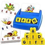 JONEG Matching Letter Game, Kindergarten Preschool Educational Learning Toys, Spelling Games for...