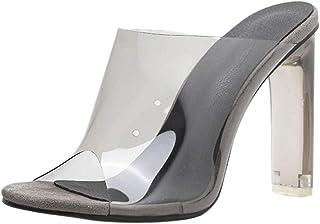 comprar comparacion Luckycat Zapatos de Mujer Solo para Mujeres Cerrojo Transparente de Tacón Grueso de Tacón Alto Zapatos de Ocio Sandalias S...