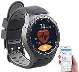 Newgen Medicals Smartwatch SIM GPS: GPS-Handy-Uhr und Smartwatch für iOS und Android, Bluetooth, Herzfrequenz (Handyuhren)