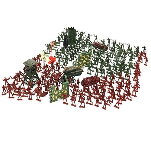 Baoblaze 1 Conjunto de Juguete de Figura de Soldado Militar de Plásticos Soldier Playset - 238 Piezas