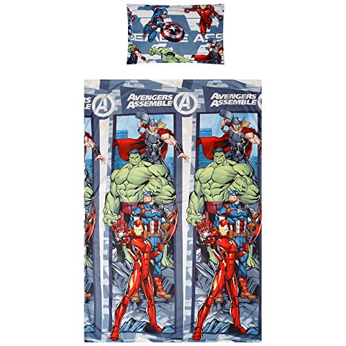 Marvel Comics Avengers Single Duvet Cover Set Reversible Bedding Grey
