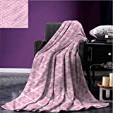 Stevenhome Camp Chair Blanket Geometric,Floral Valentines Digital Printing Blanket Lightweight All-Season Blanket Digital Printing Blanket Bed or Couch 60 x 70 inch
