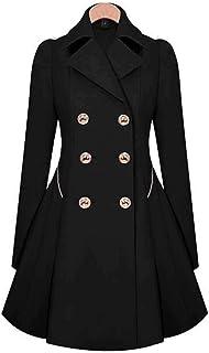 OYTRO New Fashion Women Casual Turn-down Collar A-Line Pleated Hem Windbreaker Trenchcoats