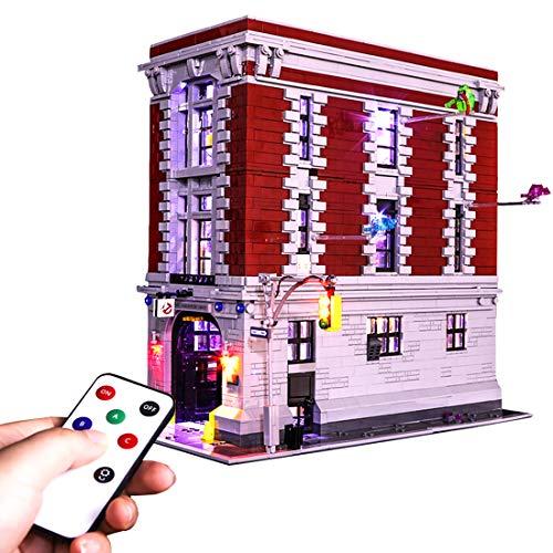TETAKE Juego de iluminación LED con mando a distancia para Lego Ghostbusters 75827 Firehouse Headquarters (no incluye modelo Lego)
