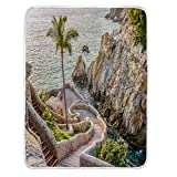BEIVIVI Cozy Blanket, Weighted Blanket,La Quebrada (The Famous Divers' Cliff) of Acapulco, Mexico,Throw Blankets for Couch,Baby Size: 31Wx47L Inch