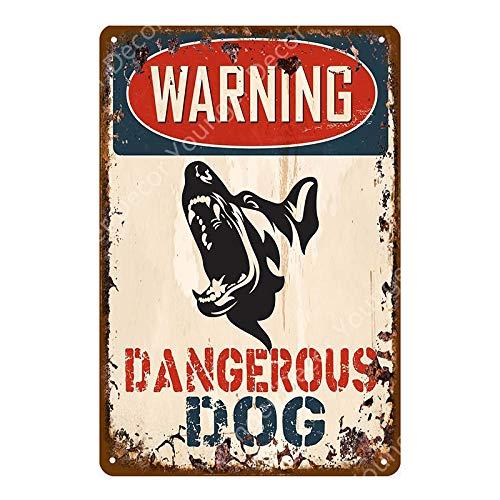 muzi928 Peligro de Advertencia Carteles de Metal Cuidado con el Perro Gato Cartel Vintage Placa de Pared Pub Bar Pintura de la casa Hombre Decoración de la Cueva 20x30cm YD3926HJ
