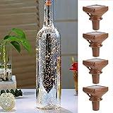 Paquete de 4 Luces de Botella de Vino con Corcho 2M 20 Leds Cadena de Alambre de Cobre Luces de Hadas para Navidad Vacaciones Boda Cumpleaños Dormitorio Ndoor Decoración Al Aire