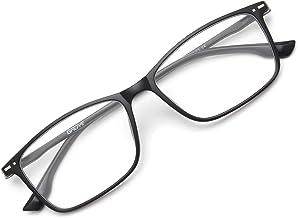 Gaoye Blue Light Blocking Glasses Women Men, Fashion Computer Gaming Eye-glasses Anti UV Nerd Square Fake Frames