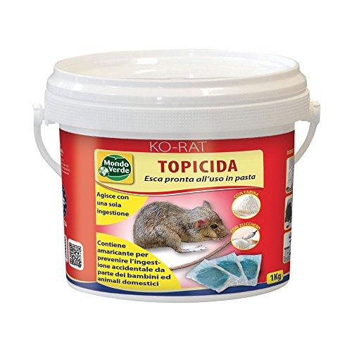 Bromaldiolone esca fresca per topi 3 kg pronta all'uso in bustine Professionale