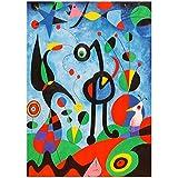 zkpzk Famoso Joan Miro Acuarela Abstracta Pintura En Lienzo Carteles E Impresiones Cuadros Cuadro De Arte De Pared para Sala De Estar Decoración del Hogar -50X75Cmx1 Sin Marco