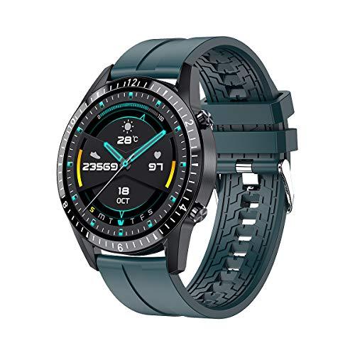 I9 Reloj Inteligente Frecuencia Cardíaca Presión Arterial Llamada 1.3 Pulgadas HD Pantalla Táctil Completa Pulsera Deportiva Múltiple Ip67 A Prueba De Agua Verde