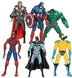 Superhero Action Figures|6 PCS Action Figure Set -Spiderman, Superman, Hulk, Thor, Ironman, Captain America PVC Figures Toys|Hero Cake Toppers|Toys Party Supply Quotient