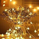 Lichterkette Sterne, Se-Mirrorworld LED Lichterketten USB 3m 20 LEDs Warmweiße Sternen, Blinken, für Kinderzimmer, Balkon, Geburtstag, Wand, Weihnachten, Dekoration [Energieklasse A+++]