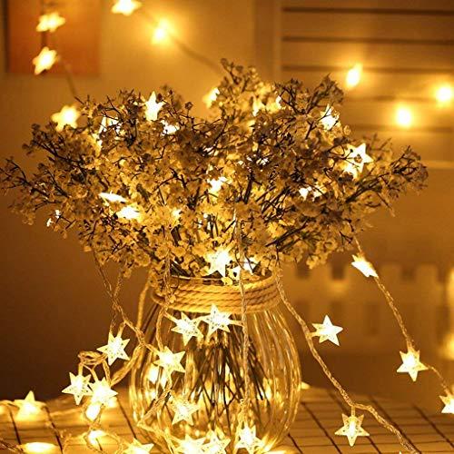 Lichterkette Sterne, Seglory LED Lichterketten USB 3m 20 LEDs Warmweiße Sternen, Blinken, für Kinderzimmer, Balkon, Geburtstag, Wand, Weihnachten, Dekoration [Energieklasse A+++]