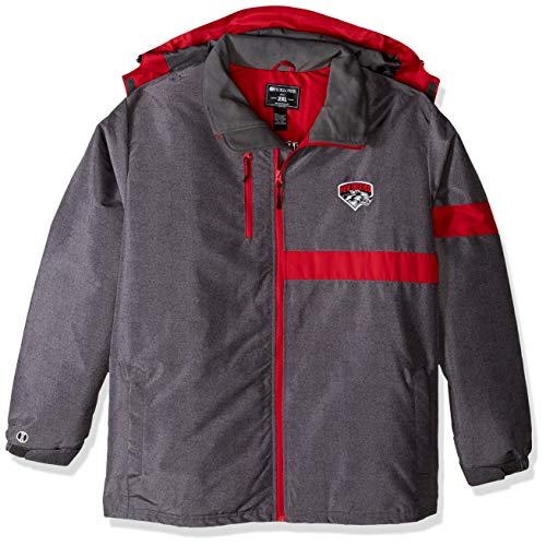 Ouray Sportswear Herren Raider Jacket Men Raider Jacket, Herren, Men's Raider Jacket, Carbon Print/Scarlet, Large