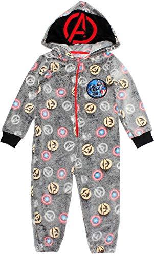 Marvel Pijama de forro polar con capucha de los Vengadores para niños que brillan en la oscuridad