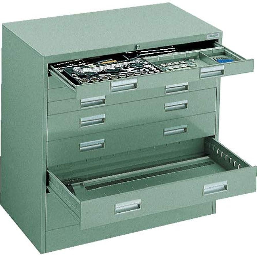 辞書定義するレイアウトTRUSCO WVR型キャビネット 880X500XH880 引出8段 WVRL8W