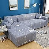 ASCV Funda de sofá elástica Universal de Color sólido para Sala de Estar, Funda de sofá Funda Protectora para Sala de Estar en casa A5 1 Plaza