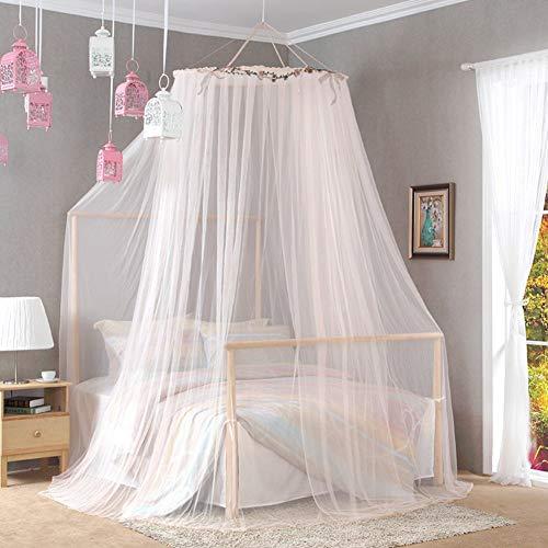 Willlly koepeldeken met dubbel plafond, muggennet, huis, chic, casual, vloer, hochtdeel, prinses, nachtkastje, D Queen2, oosterse stijl Size Kleur: zwart/bruin,