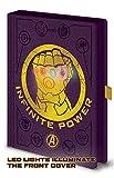Avengers Infinity War - Cuaderno A5 Premium Con Luz Gauntlet