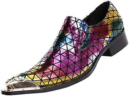 RSHENG Herrenschuhe Business Casual Schuhe Personalisierte Mode Faule Schuhe Verbessert Verbessert Verbessert  Rabatt