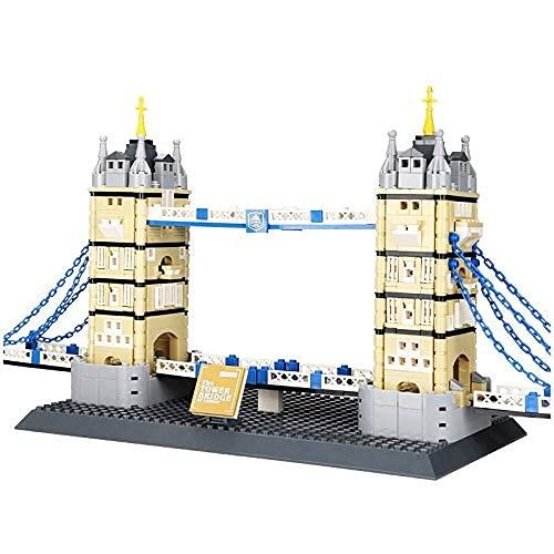 HYLL Bloques de construcción 4219 969PCS Arquitectura Landmark Tower Bridge of Londres Bloques de construcción Construcción Ladrillo DIY Niños Juguetes para niños