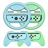 Joy-Conハンドル マリオカート Switch ジョイコンハンドル joy-con カバー Y044-9(どうぶつの森 /4点セット) momen®