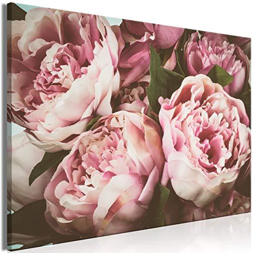 decomonkey Bilder Blumen 120x80 cm 1 Teilig Leinwandbilder Bild auf Leinwand Vlies Wandbild Kunstdruck Wanddeko Wand Wohnzimmer Wanddekoration Deko Rose